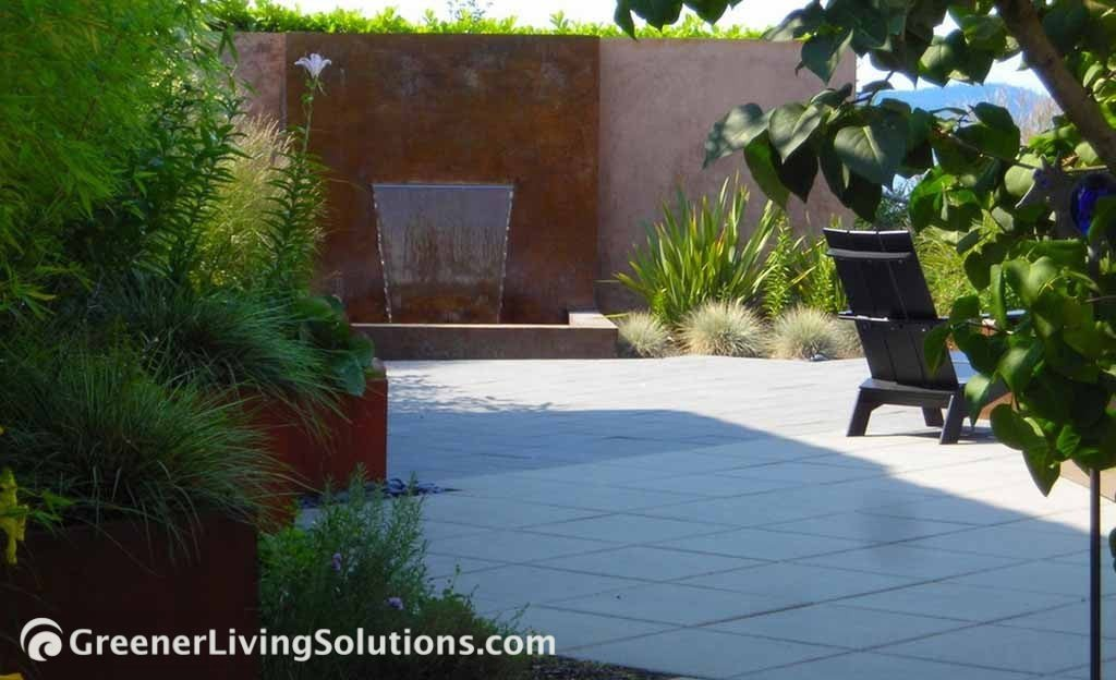Renovation Of Craftsman House With A Contemporary Landscape Including  Rusted Steel Planters, Bamboo, Acid Washed Concrete, Square Pavers And  Textural ...